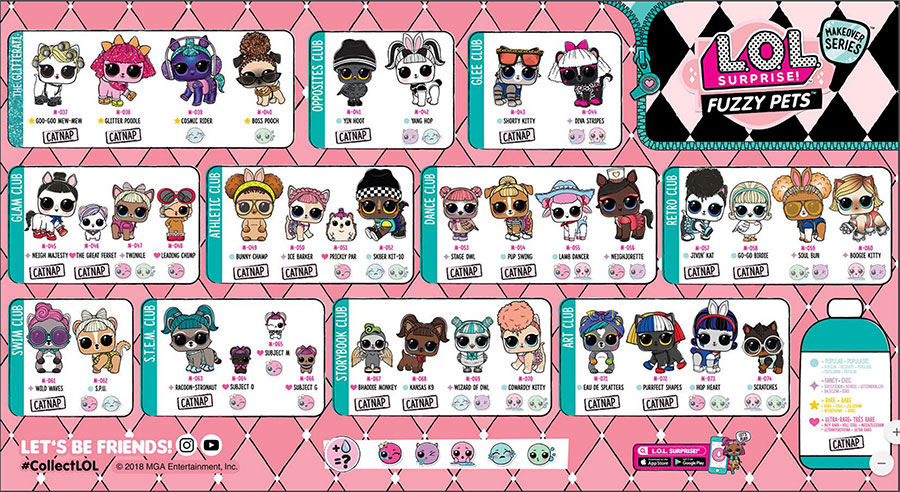 poster fuzzy pets completo serie 5